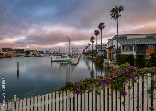 Fototapete Channel Islands Harbor in Oxnard, California