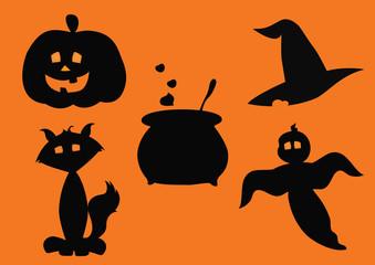 silhouettes halloween
