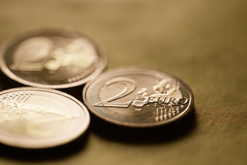 Two euro coin background