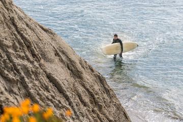 surfer near Santa Cruz, CA