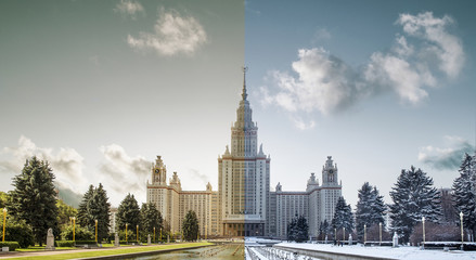 Two seasons in Moscow - Lomonosov Moscow State University, Russia