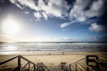 Fototapeta Schody na plażę
