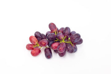 Isolated grape on the white background