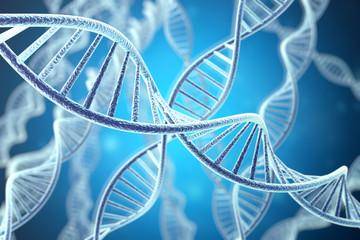 Concetp digital illustration DNA structure. 3d rendering