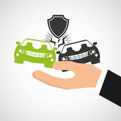 car insurance business icon vector illustration design
