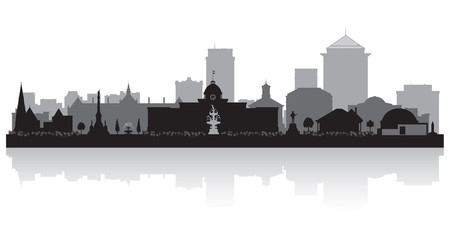 Wall Mural - Montgomery Alabama city skyline silhouette
