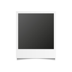 Realistic vector photo frame. Template photo design, Vector illustration.