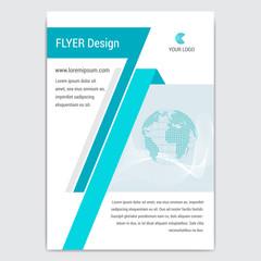 Flyer, business brochure template. Editable A4, A5.