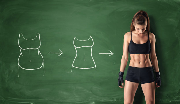 Concept of how a girl's body changing