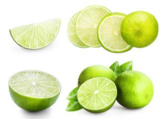 lemon, lime, citrus set