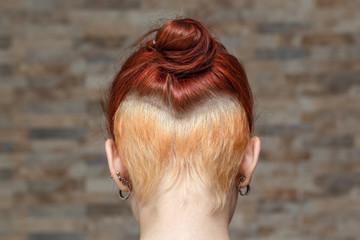 hidden undercut bleached hair
