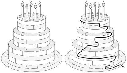 Easy birthday cake maze