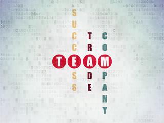 Finance concept: Team in Crossword Puzzle