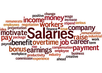 Salaries, word cloud concept 8
