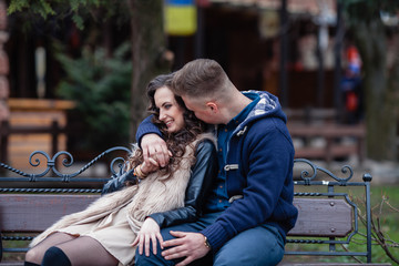 couple in love on spring
