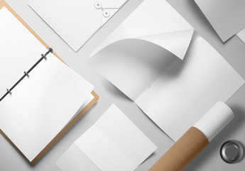 Assorted White Stationery Mockup 1