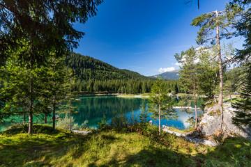 Lake Cauma near the village Flims in Switzerland