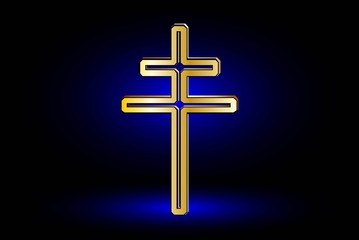 double religious cross ,Christian double cross,