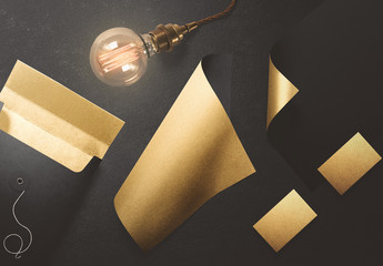 Gold Stationery Mockup 1