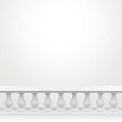 Light background-room with balustrade