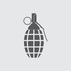 Hand grenade icon. Vector illustration.