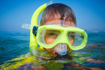 Photo of snorkeling boy
