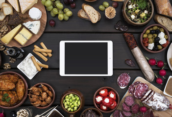 Tapas food header mockup