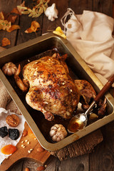 Roasted small turkey for celebration Thanksgiving day