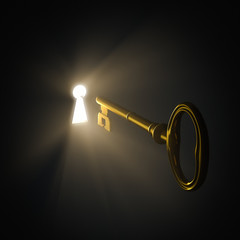 Light through keyhole
