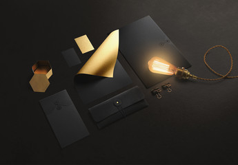Gold Stationery Mockup 2
