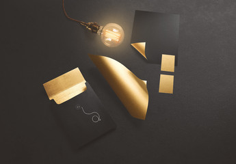 Gold Stationery Mockup 4