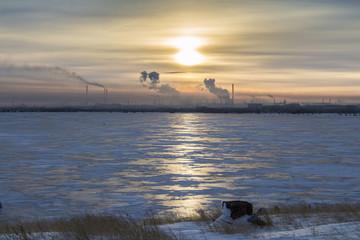 Temirtau in winter, Kazakhstan