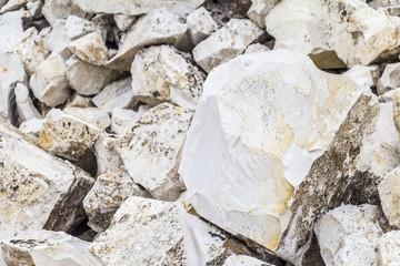 Limestone quarry industry, summer, Ukraine