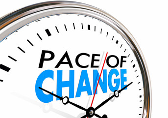 Pace of Change Update Adapt Evolution Clock 3d Illustration