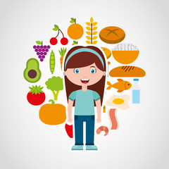 kids menu restaurant icon vector illustration design