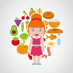 kids menu restaurant icon vector illustration design