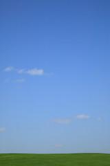 青空と緑の地平線
