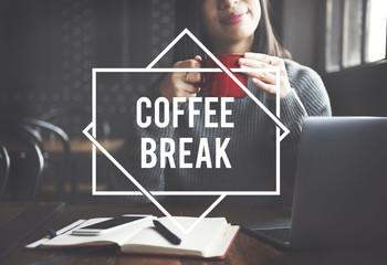 Coffee Break Cafe Relax Enjoy Concept