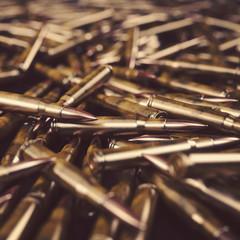 Bullet Shells Background- 3D illustration
