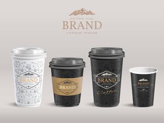 Elegant paper coffee cup design