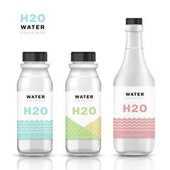 Trendy water bottle template