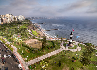 Panoramic aerial view of Miraflores Fare.