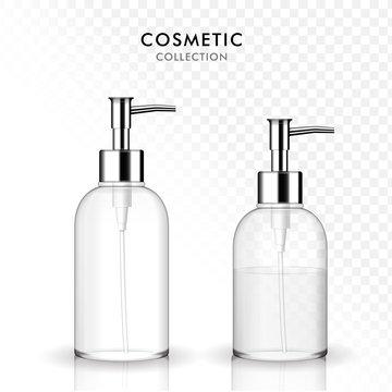 Cosmetic liquid soap bottle