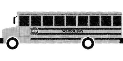 Sketch of school bus back to school