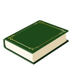緑の表紙の本