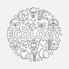 Ecology round symbol