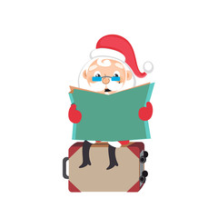 Santa Claus with a suitcase