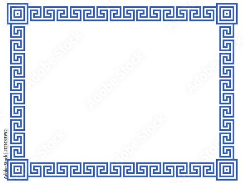 cadre d co m andres grecs format rectangulaire fichier vectoriel libre de droits sur la. Black Bedroom Furniture Sets. Home Design Ideas