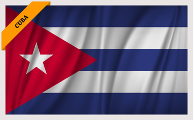 National flag of Cuba - waving edition