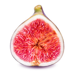 half fig isolated on a white background